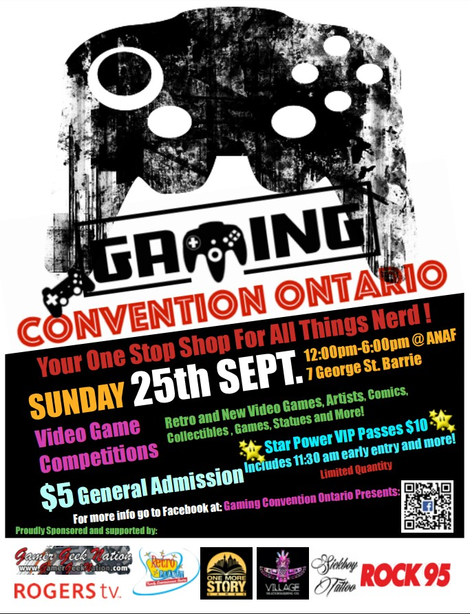 Gaming Convention Ontario Poster