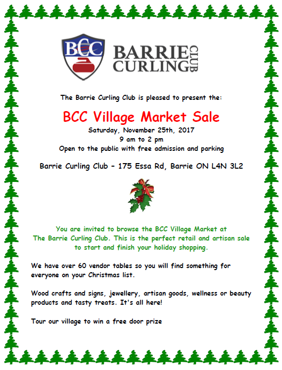 Barrie Curling Club Craft Show
