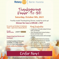 Rotary Club of Barrie-Huronia Thanksgiving To Go